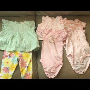 Newborn girl 6piece set